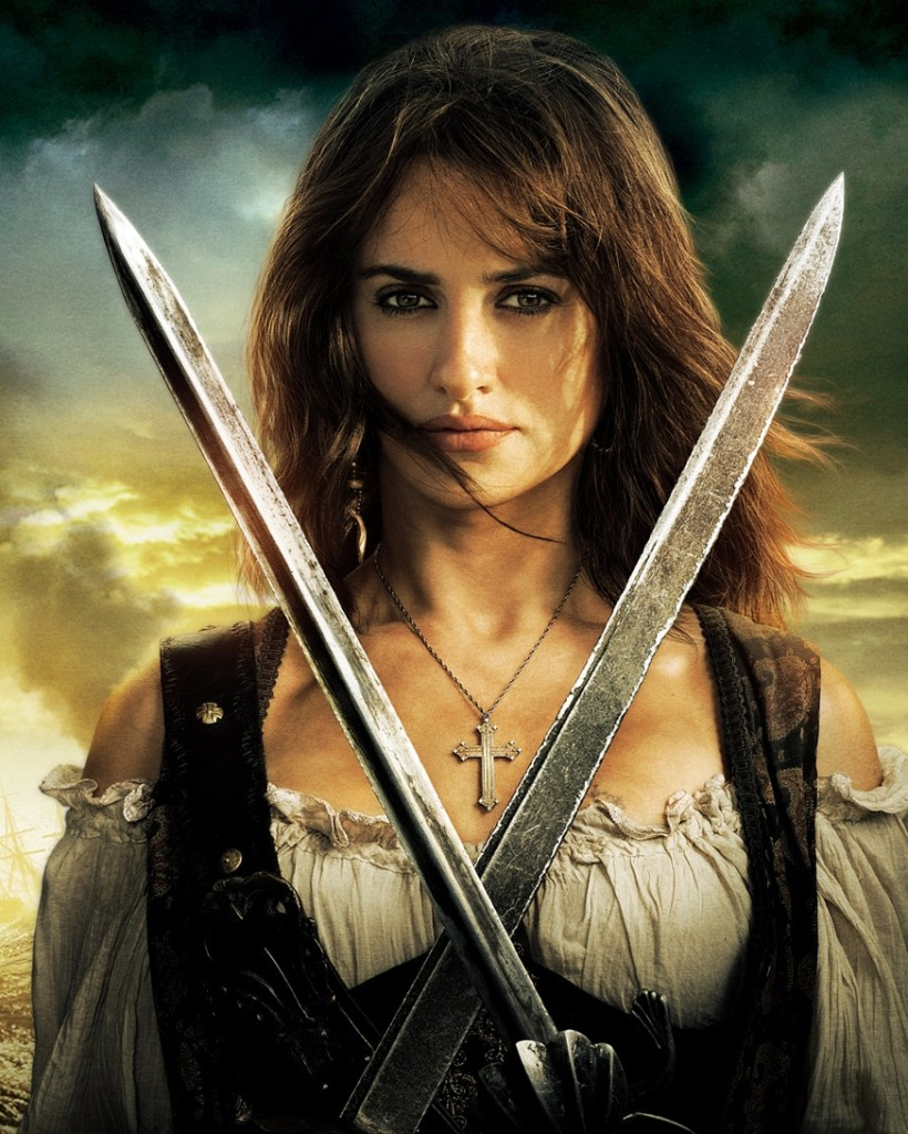 Penelope Cruz as a pirate