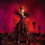 Milla Jovovich Campari calendar July 2012