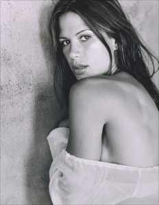 Rhona Mitra black and white