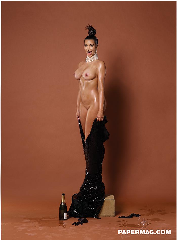 Kim Kardashian nude photo in Papermag, November 2014