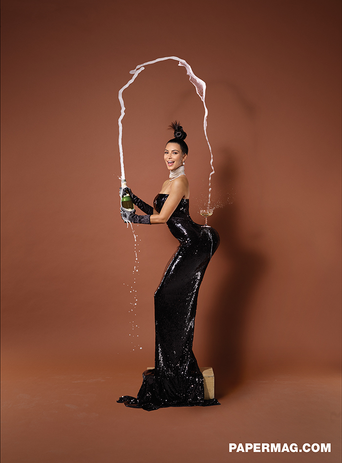 Kim Kardashian in Papermag, November 2014
